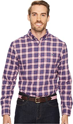 Vineyard Vines - Silver Peak Performance Plaid Flannel Tucker Shirt