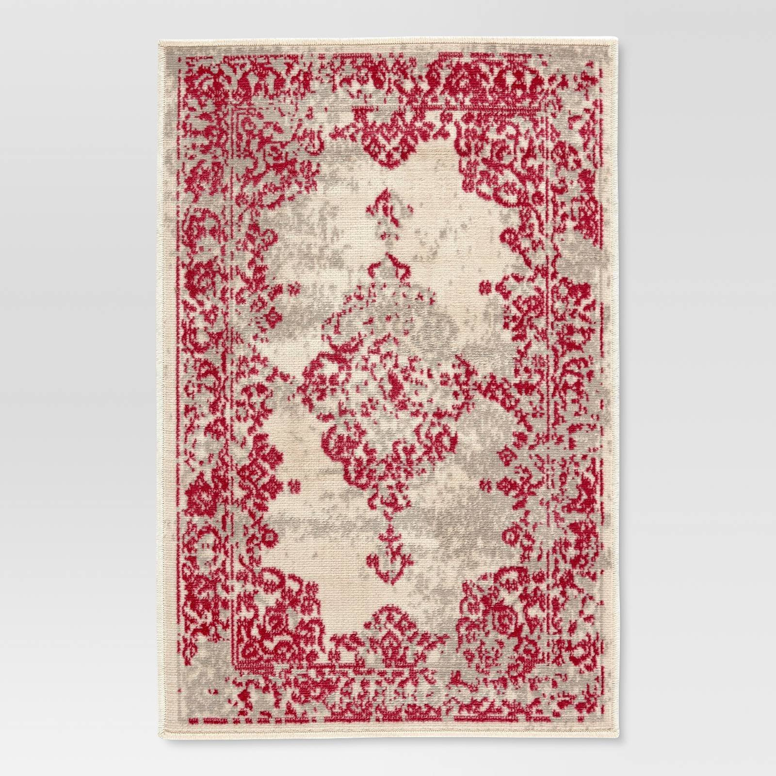 Amazon Com Threshold Pink Beige Aztec Classic Woven Accent Rug Kitchen Dining