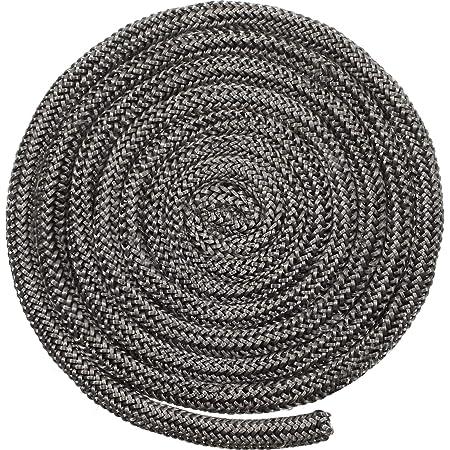 Tube de Colle Standard Fibre de Verre Noir pyrofeu PYRO FEU Joint r/éfractaire 12 mm x 2,5 m