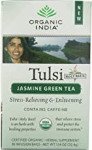 Organic India Tulsi Green Tea, Jasmine, 18 Count (Pack of 6)