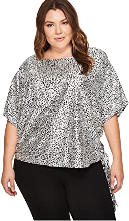 Plus Size Leopard Tie Top