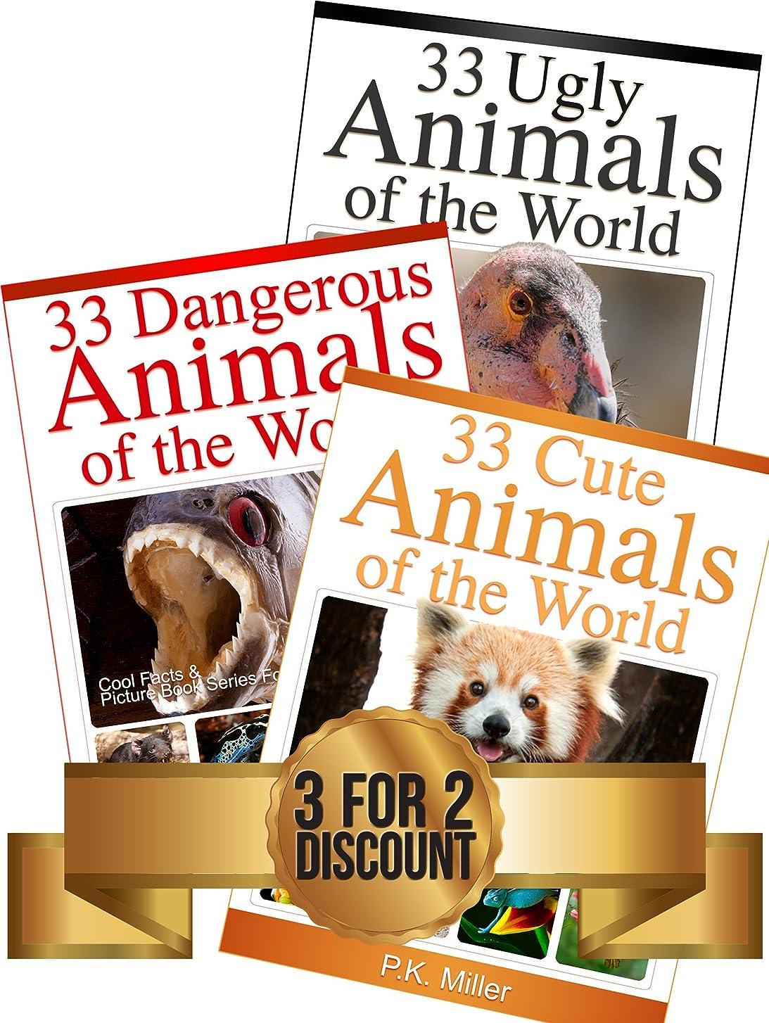 最悪大人国旗99 Amazing Animals Book Bundle: 33 Cute Animals + 33 Dangerous Animals + 33 Ugly Animals (English Edition)