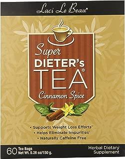 Laci Le Beau Super Dieter's Tea, Cinnamon Spice, 60 Count Box (Pack of 2)