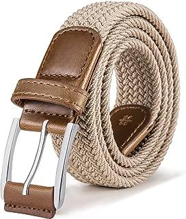 Stretch Belt Men,Bulliant Mens Woven Stretch Braided Belt 1 3/8