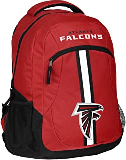 NFL Atlanta Falcons Dual Side Backpack with Laptop Compartment, Action Stripe Logo Bag, Team Color Football Themed, Team Logo, Fan Merchandise, National Football League, Athletic Team Spirit