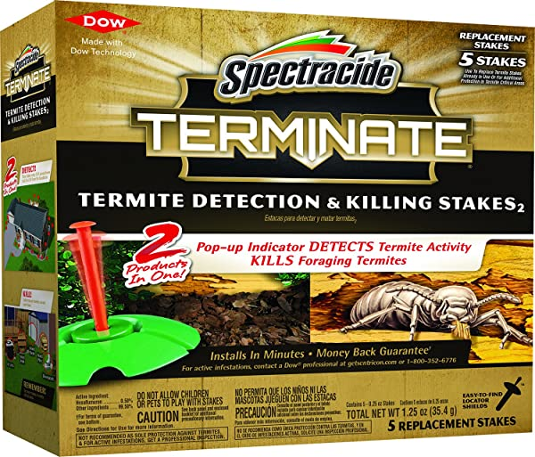 Spectracide Terminate Termite Detection Killing Stakes 5 Ct