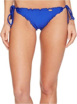 Cosita Buena Wavey Brazilian Tie Side Ruched Back Bikini Bottom