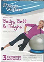 Weight Watchers Work Your Belly, Butt & Thighs Stability Ball Workout 3 Complete Workouts