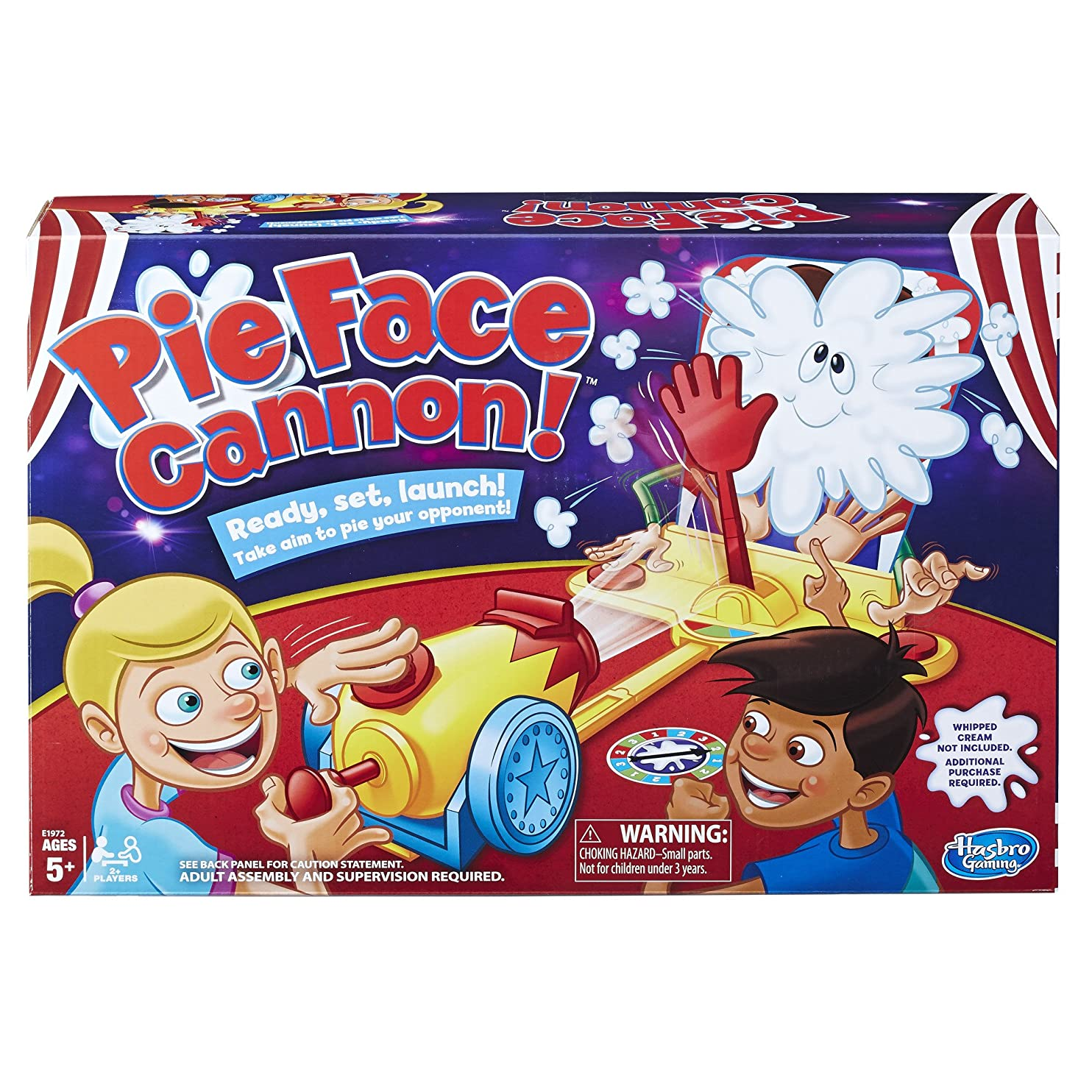 Pie Face Cannon Game Whipped Cream Family Board Game Kids Ages 5 and Up ziqbhneqmdm87