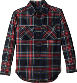 Polo Ralph Lauren Kids - Plaid Cotton Twill Workshirt (Big Kids)
