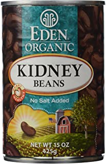Eden Organic Kidney Beans, 15 oz Can, No Salt, Non-GMO, Gluten Free, Vegan, Kosher, U.S. Grown, Heat and Serve, Macrobioti...
