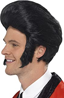 Smiffy's Men's 50's Quiff King Wig with Sideburns