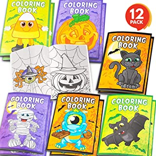ArtCreativity Halloween Coloring Books for Kids - Pack of 12-5 Inches x 7 Inches Mini Booklet - Fun Halloween Treats Prize...