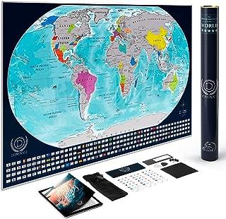 DONOVATE Scratch Off World Map – Large Size 34