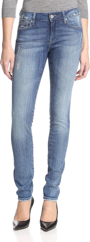 Mavi Jeans Womans Medium bluee Stretch Cotton Adriana Super Skinny MidRise Jeans