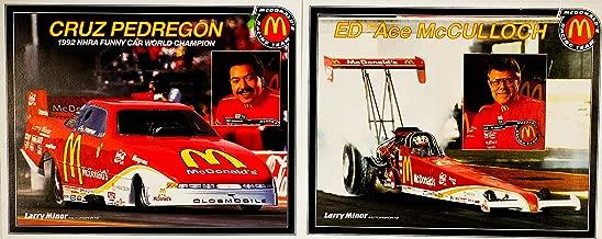 1993 - NHRA / Winston Drag Racing - 2 Hero Cards - Cruz Pedregon : McDonald's Funny Car / Ed