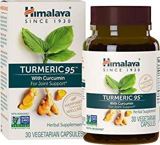 Himalaya Turmeric 95 with Curcumin, 30 VCaps for Antioxidant & Joint Support 600mg, 1 Month Supply