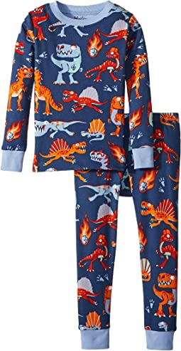 Hatley Kids Volcanos & Dinos Long Sleeve Pajama Set (Toddler/Little Kids/Big Kids)