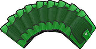 Case-It Open Tab Velcro Closure 2-Inch Binder with Tab File, Green,9 count
