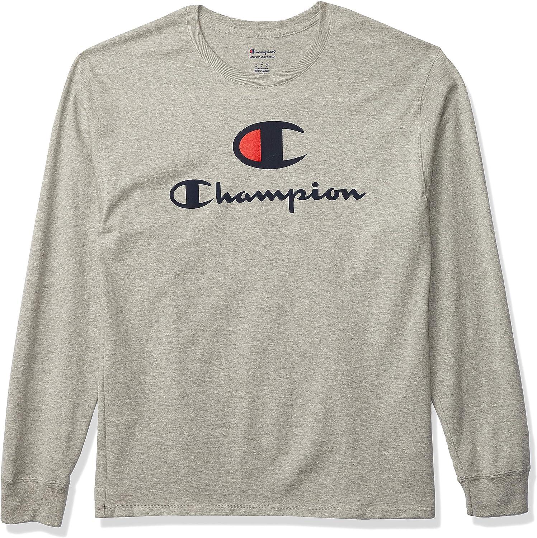 Virginia Beach Mall Max 77% OFF Champion Men's Classic Long Logo Double Sleeve Tee