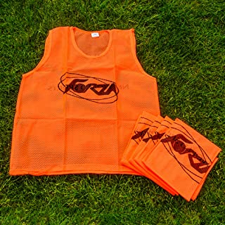 Forza Soccer Training Pinnies/Scrimmage Vests/Sports Bibs | Packs of 5, 10 & 15 | Sizes Ranging from Kids to XL