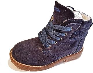 0ee1d4f68fd Garvalin - Zapatos de Cordones de Cuero para niña Azul Blau-Glitzer