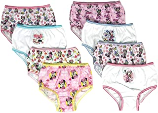 Handcraft Minnie Mouse Girls Panties Underwear - 8-Pack Toddler/Little Kid/Big Kid Size Briefs Mickey Clubhouse