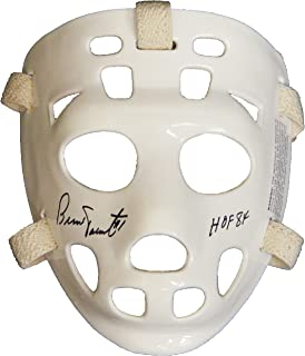 Bernie Parent Signed White Throwback Hockey Goalie Mask w/HOF'84