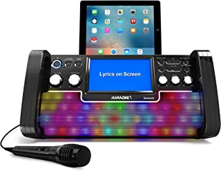 iKaraoke KS780-BT Bluetooth CD&G Karaoke System, Black
