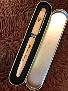 Natural Willow Light Wood Custom Engraved Ball Point Pen with Storage Gift Box