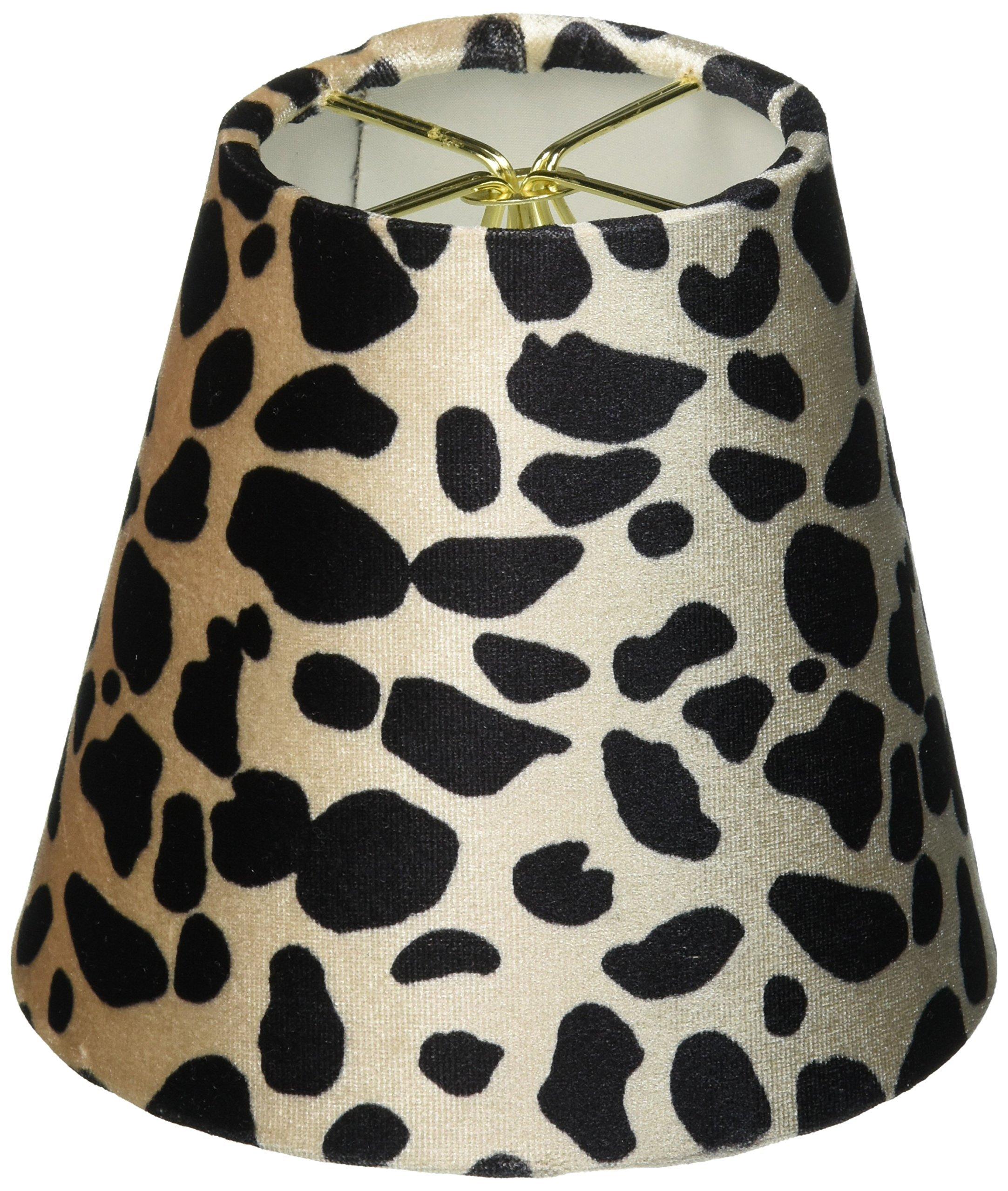 Royal Designs CS-960-5 Pantalla grande para lámpara de araña con estampado de leopardo, 7,6 x 12,7 x 11,4 cm, color negro y marrón: Amazon.es: Iluminación