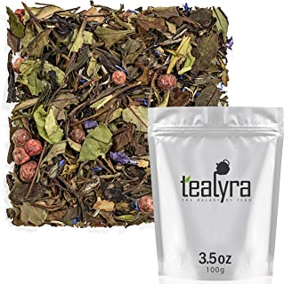 Tealyra - White Champagne - White Loose Leaf Tea - High level of Antioxidants - Natural - Healthy Tea - Hot and Iced Tea -...