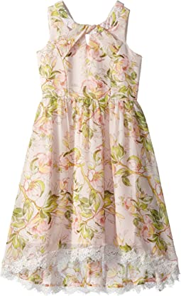 Us Angels Floral Chiffon Dress (Big Kids)
