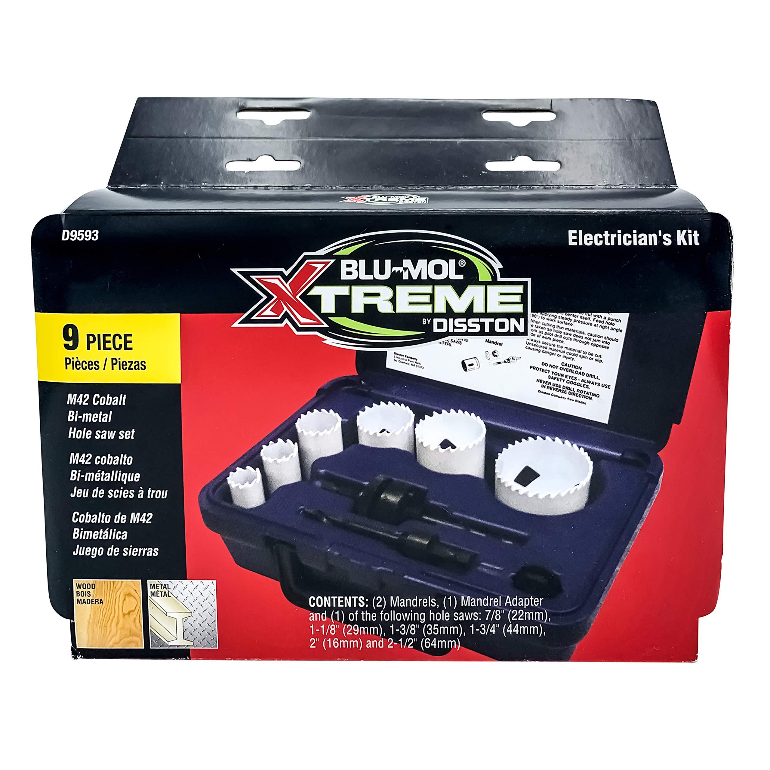 Disston E0102326 3//4-Inch Blu-Mol Sheet Metal Hole Saws Boxed 19mm