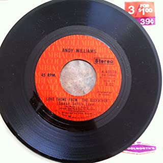 """love theme from """"the godfather"""" (speak softly love) / home for thee 45 rpm single"""