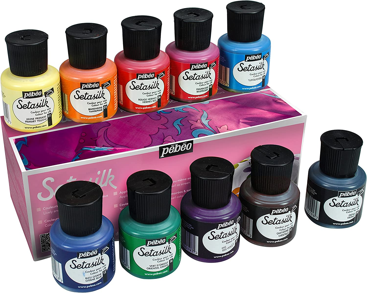 PEBEO 269000 Setasilk Silk Painting Max 60% OFF Set Box 10 of Fixed price for sale Ass Cardboard