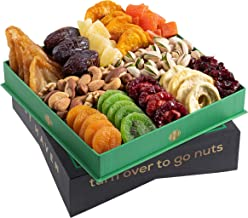 Holiday Dried Fruit & Nuts Gift Basket - Fresh Edible Arrangement of Dried Fruit & Nuts Gift Basket - Fantastic Food Gift ...