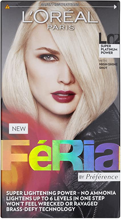 Tinte rubio platino L Oreal Paris Feria L01: Amazon.es: Belleza