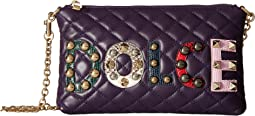 Dolce & Gabbana - Quilted Nappa with Dolce Studded Patch Chain Mini Bag
