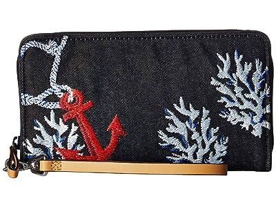 Vera Bradley RFID Beach Wristlet (Shore Thing) Wristlet Handbags
