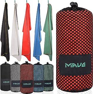 Mave Athletic Premium XXL ręcznik z mikrofibry z torbą [200 cm x 90 cm] – ultralekki szybkoschnący ręcznik – idealny na na...