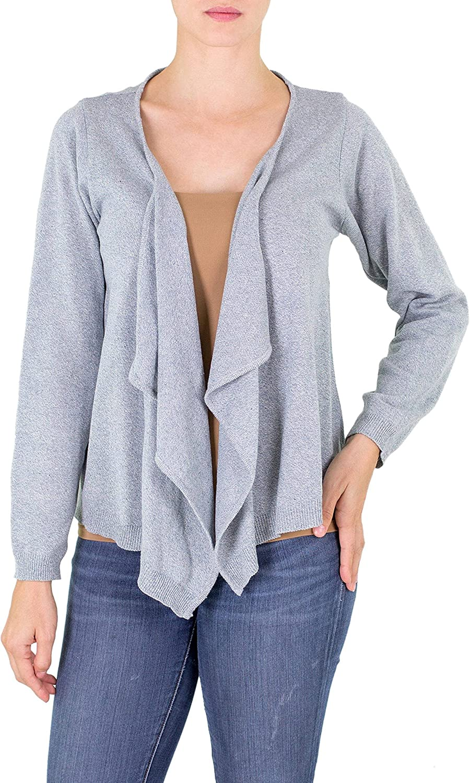 NOVICA Blue 100% Cotton Cardigan Sweater, Cotton Cloud'