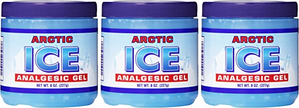 Set of 3 Pain Relief Analgesic Gels! Arctic Ice Pain Relief! 8oz Each! Stop Your Aches and Pains! Made in USA! (3)