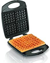 Hamilton Beach 4-Slice Non-Stick Belgian Waffle Maker with Indicator Lights, Compact..