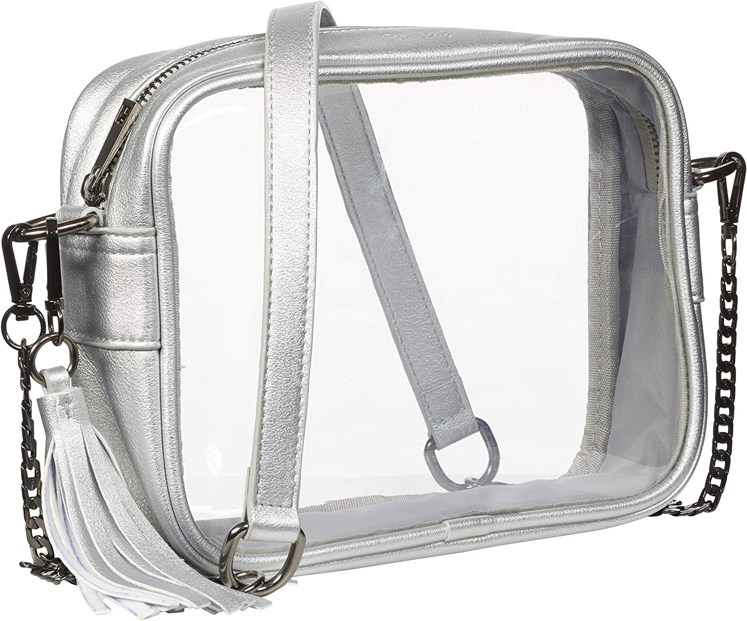 Clarity Handbags Stella Clear Women's Bag for Professional & College Sporting Events Clear Bag Stadium Policy Approved