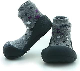 Attipas Twinkle Baby Walker Shoes, Black, Medium