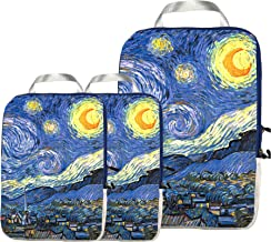 Packing Cubes Travel Organizer- Compression Packing Cubes for Carryon Luggage (Starry Night)