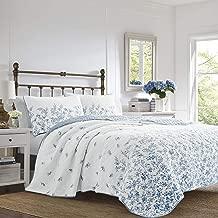 Laura Ashley Flora Quilt Set King Blue