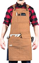 Hudson Durable Goods – Woodworking Edition – Waxed Canvas Apron (Brown)..
