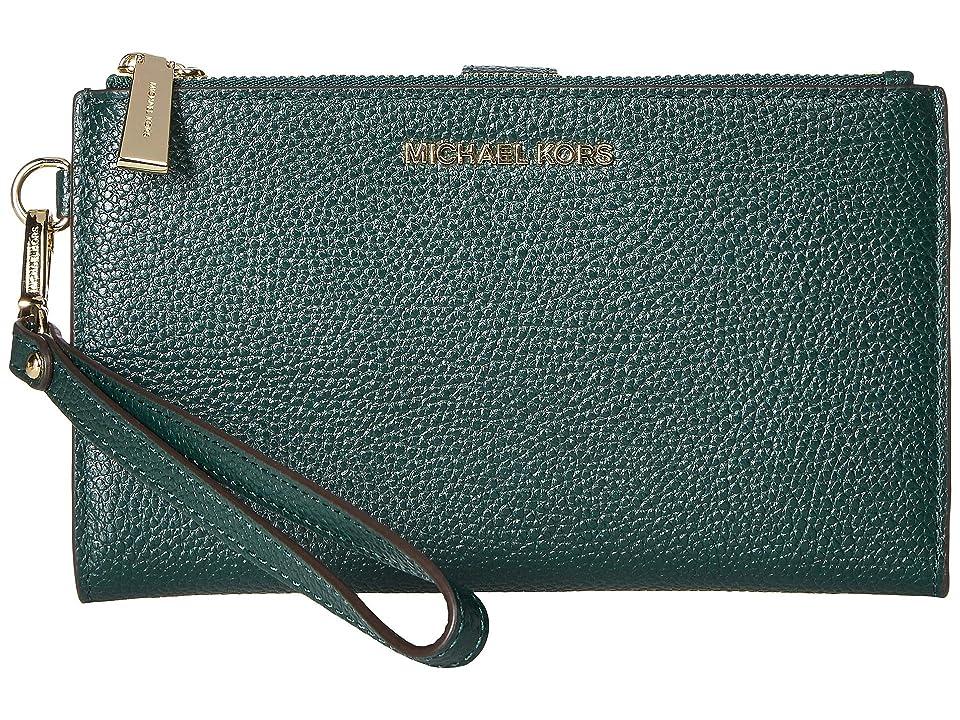 MICHAEL Michael Kors Double Zip Wristlet (Racing Green) Wristlet Handbags